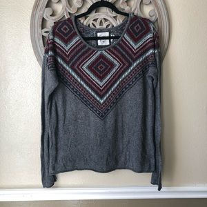 H&M  grey wine mint Angora blend sweater